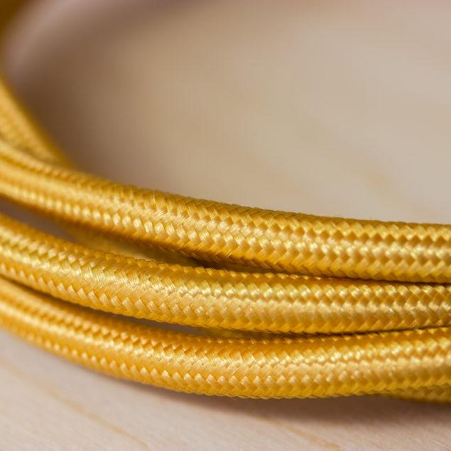 Fabric Braided Cable - Gold