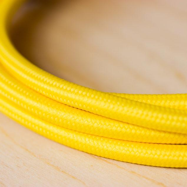 Fabric Braided Cable - Yellow