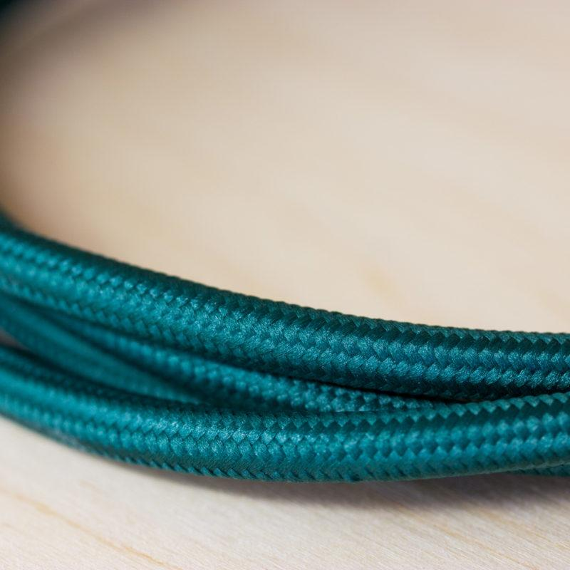 Fabric Braided Cable - Bottle Green