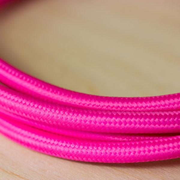 Fabric Braided Cable - Fuchsia
