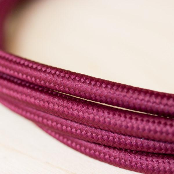 Fabric Braided Cable - Burgundy