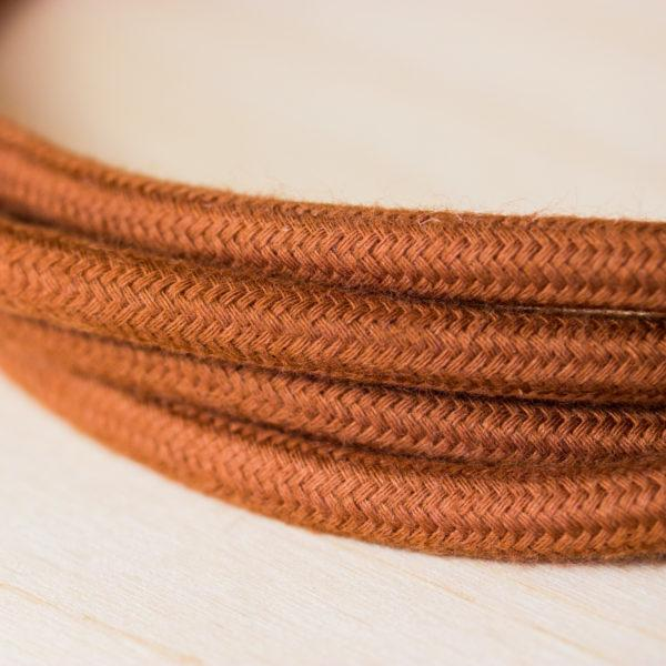 Fabric Braided Cable - Light Brown