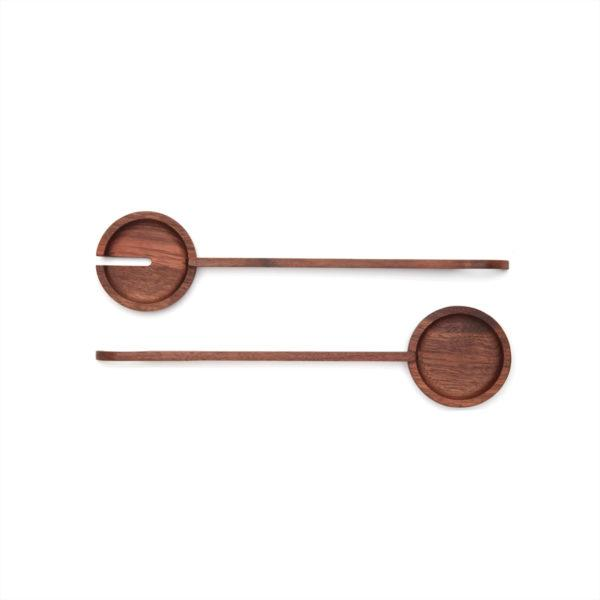 Walnut Salad Spoons Set of 2