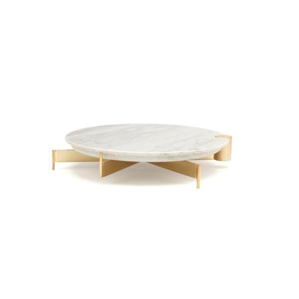 Brass Cake Stand with Medium Marble Board