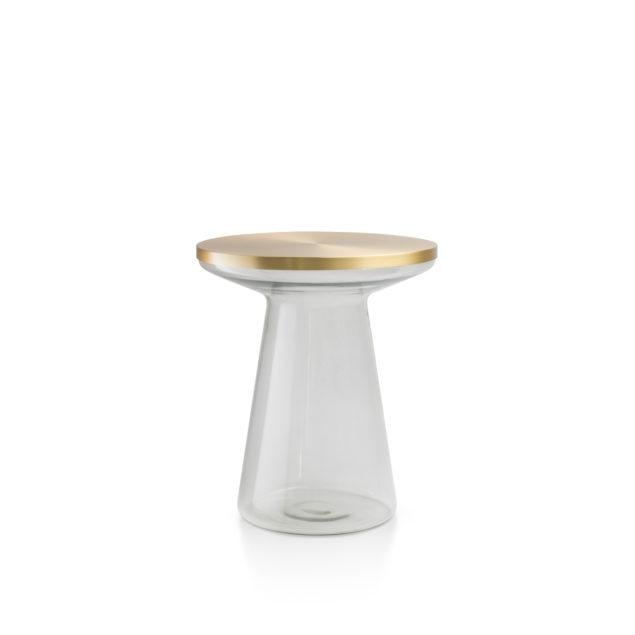 Figure Clear Glass Side Table