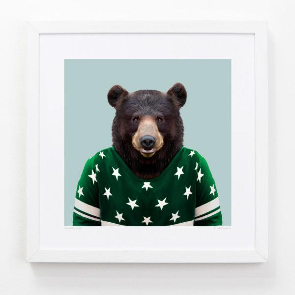 Bear Zoo Portrait Art Print