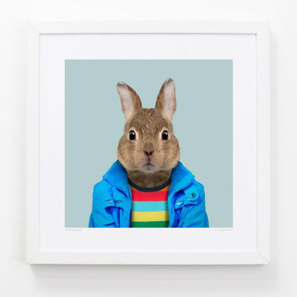 Bunny Zoo Portrait Art Print