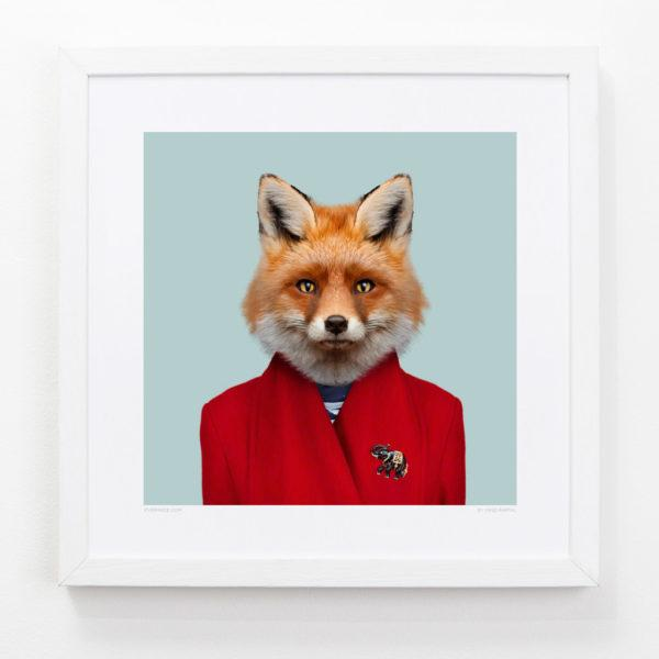 Fox Zoo Portrait Art Print