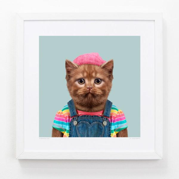 Cat Zoo Portrait Art Print
