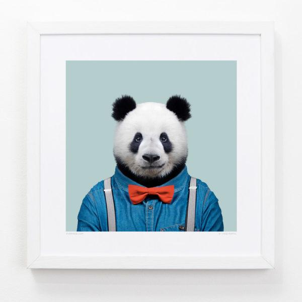 Panda Zoo Portrait Art Print