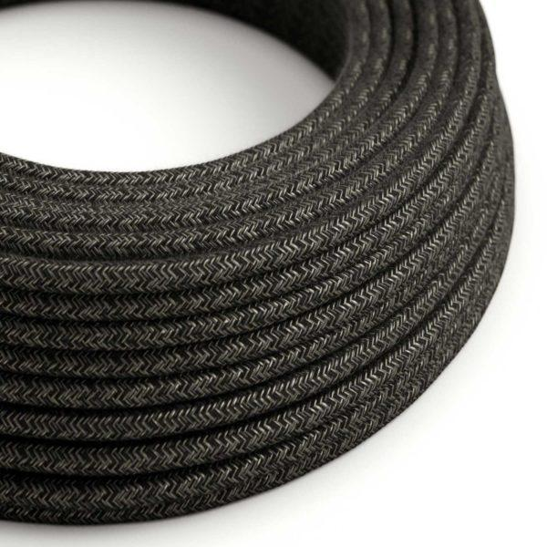 Fabric Braided Cable - Anthracite Linen
