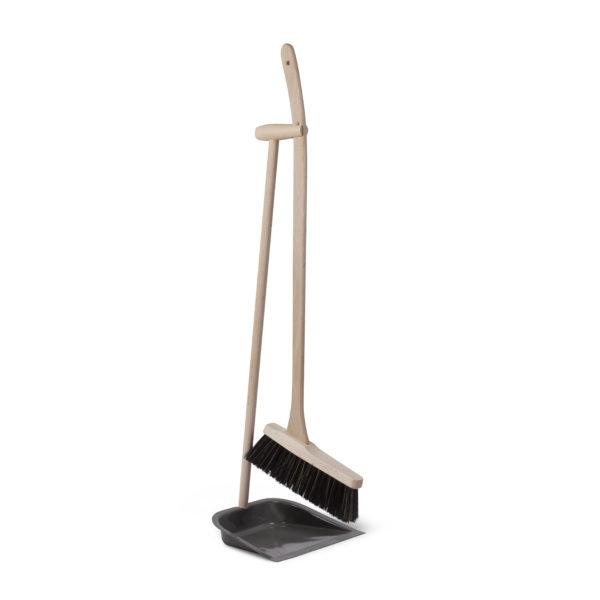 Dustpan and Brush with Long Handle