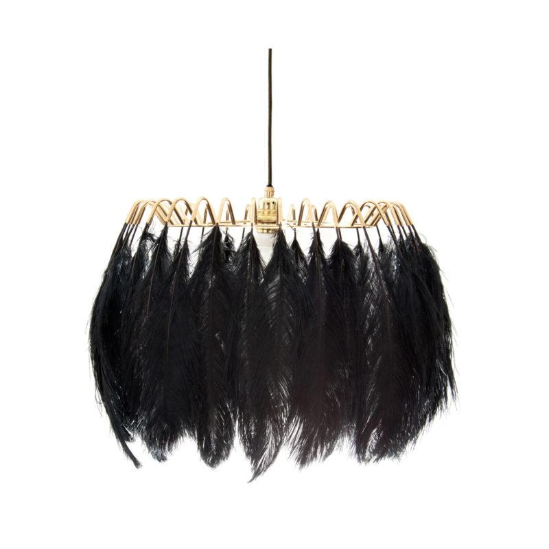 Black Feather Pendant Lamp