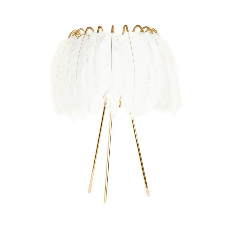 White Feather Table Lamp