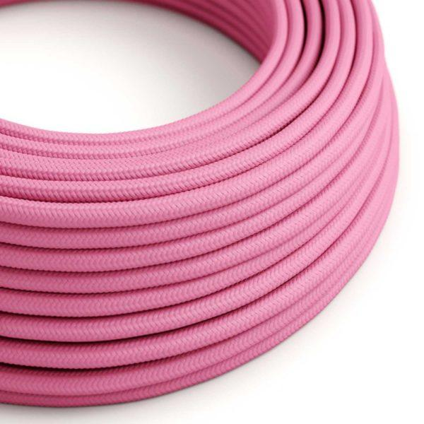 Fabric Braided Cable - Fuchsia Pink