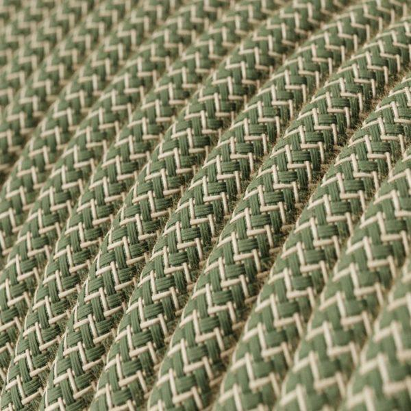 Fabric Braided Cable - Green Linen