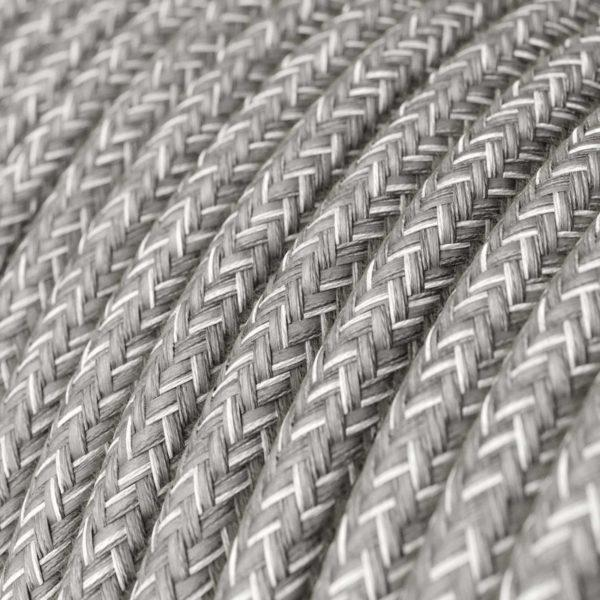 Fabric Braided Cable - Grey Linen
