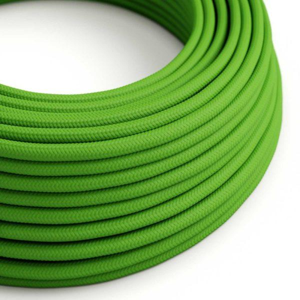 Fabric Braided Cable - Lime Green