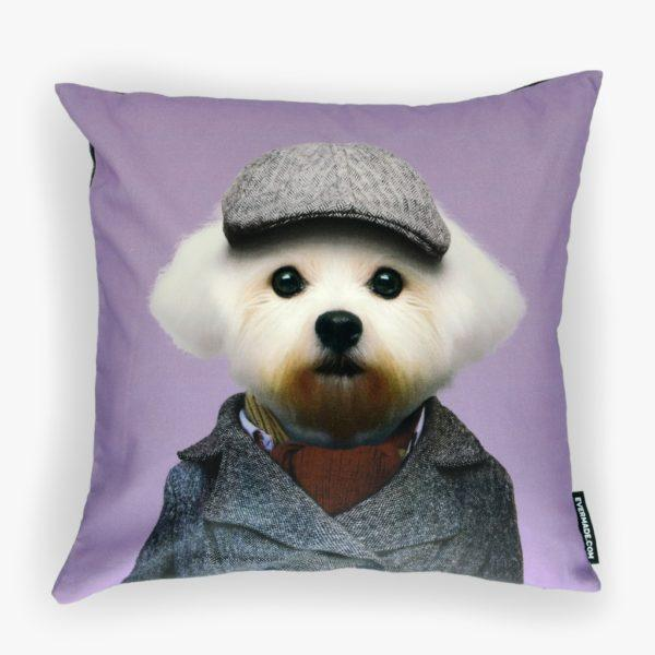 Maltese Zoo Portrait Cushion