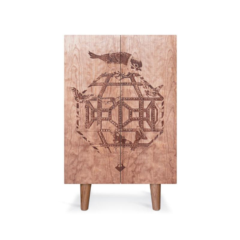 Cherry Ornithological Sketch Cabinet