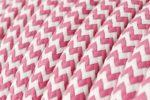 Fabric Braided Cable - Pink Zig Zig