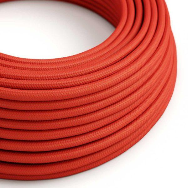 Fabric Braided Cable - Red