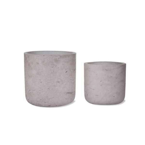 Stratton Set of 2 Straight Stone Pots
