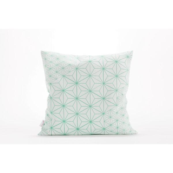 Tamara 40x40 Cushion - White & Turquoise