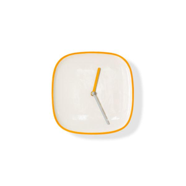 Yellow Ceramic Plate Clock