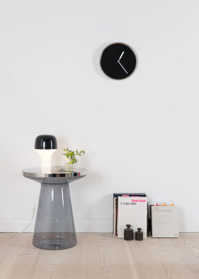 Thin Wall Clock - Chrome & Black