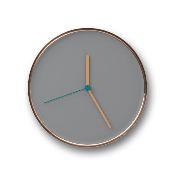 Thin Wall Clock - Aluminium/White