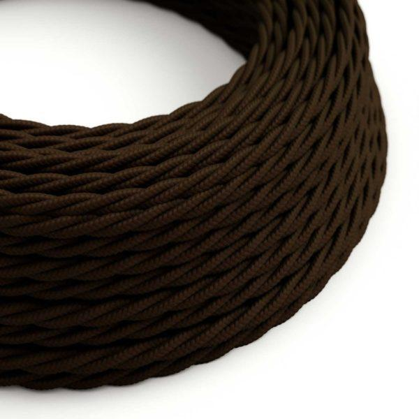 Fabric Braided Cable - Twisted Brown
