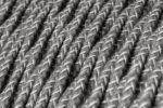 Fabric Braided Cable - Twisted Grey Linen
