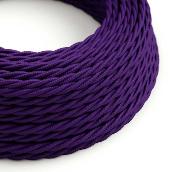 Fabric Braided Cable - Twisted Violet