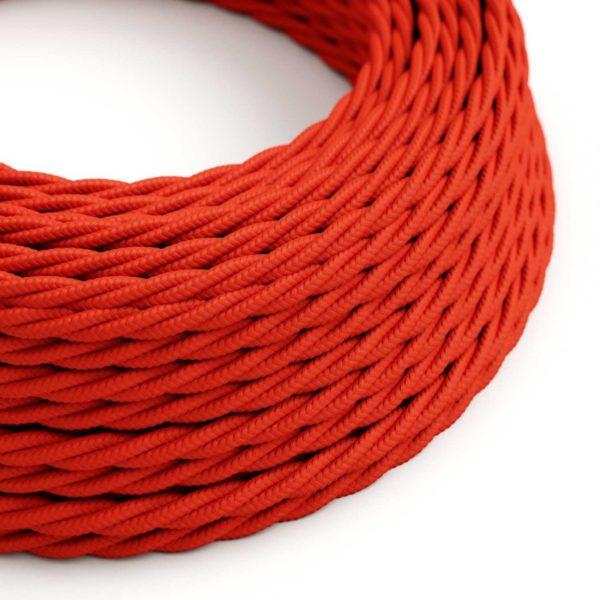 Fabric Braided Cable - Twisted Red