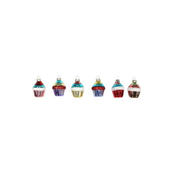 Painted Glass Cupcake Decoration