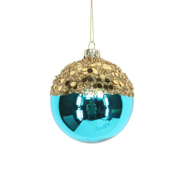 Glitter Top Blue Bauble