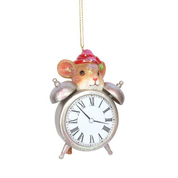 Alice in Wonderland Clock with a Mouse Hanging Decoration