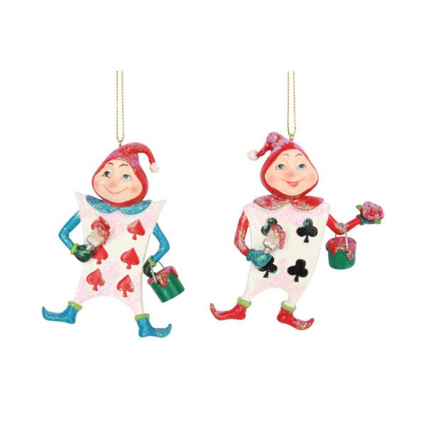 Alice in Wonderland Playing Card Men Decorations Set of 2