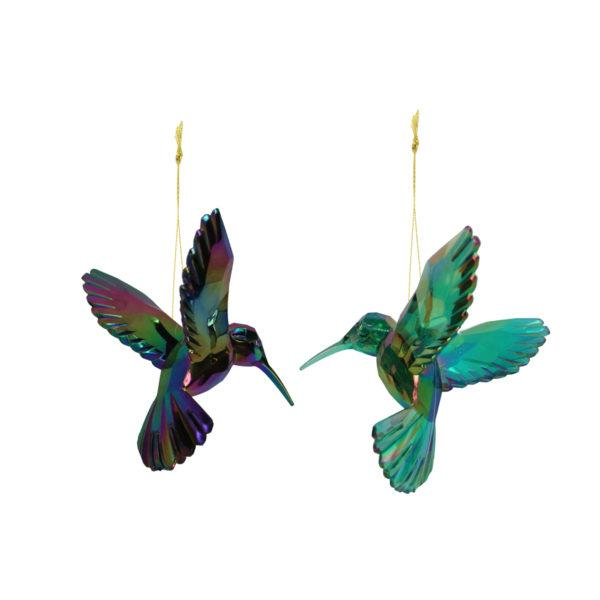 Geometric Humming Bird Christmas Tree Decoration (1)