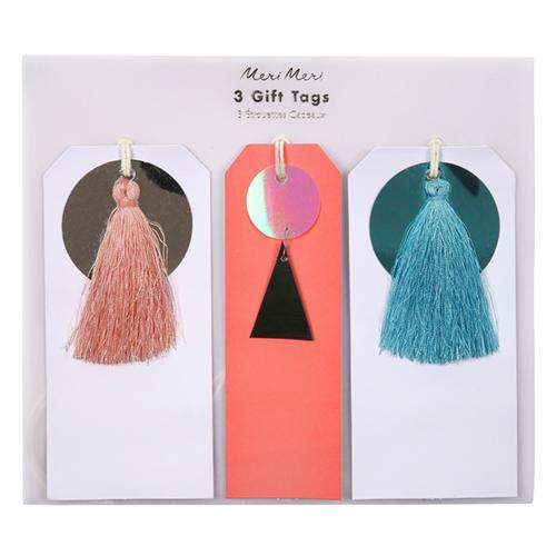 Sequin & Tassel Christmas Gift Tags