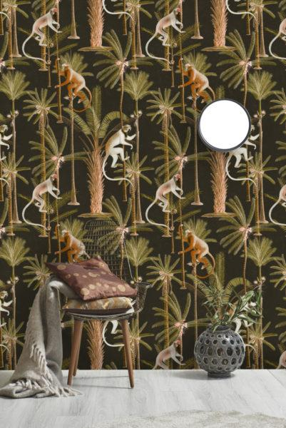 Barbados Anthracite Wallpaper