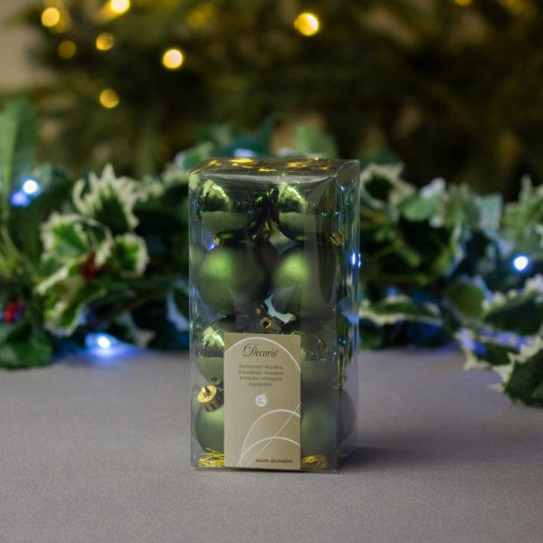 Pine Green Baubles 4cm Pack of 16