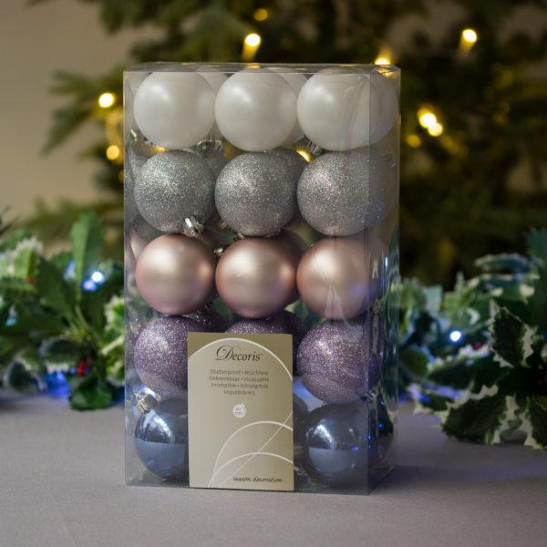 Winter Sky Baubles 6cm Pack of 30
