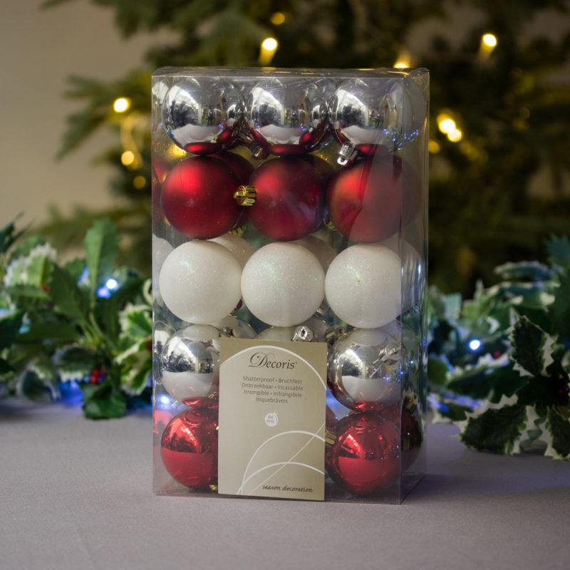 Merry Mix Baubles 6cm Pack of 30