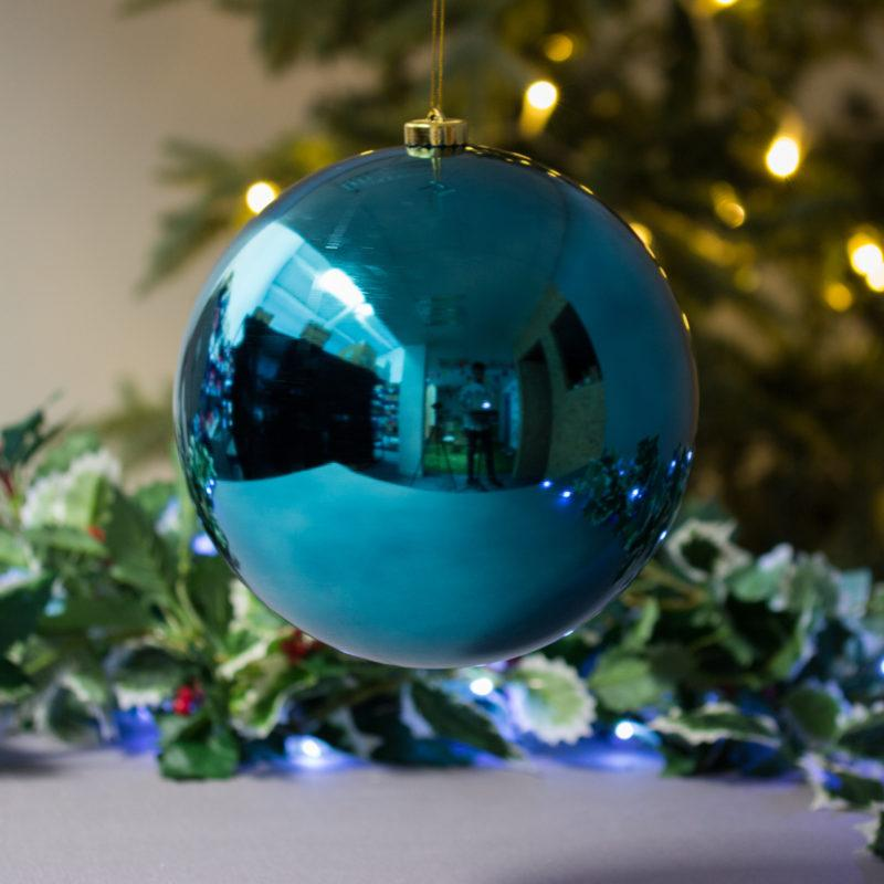 Extra Large Petrol Blue Bauble 20cm