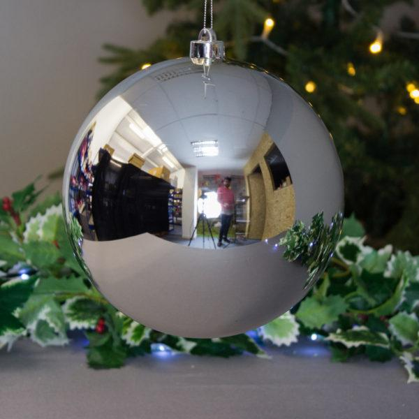 Extra Large Festive Silver 20cm