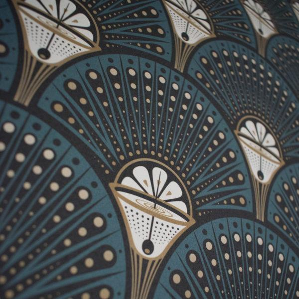 Deco Martini Teal Wallpaper
