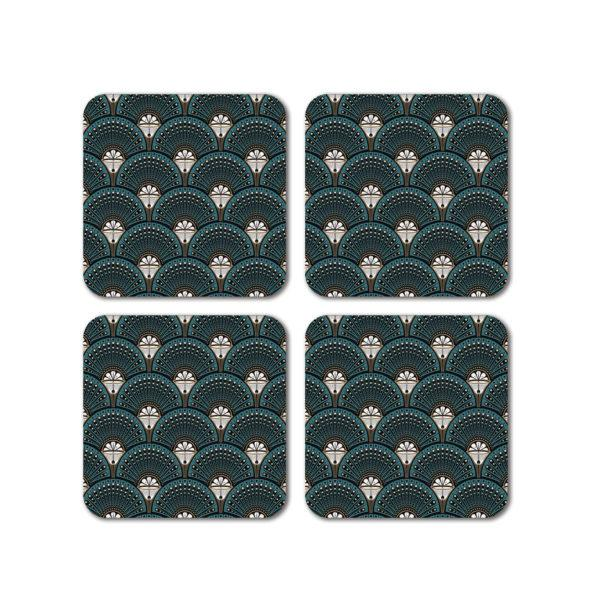 Deco Martini Set of 4 Coasters
