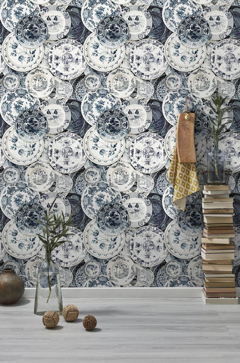 Delftware Vintage Wallpaper
